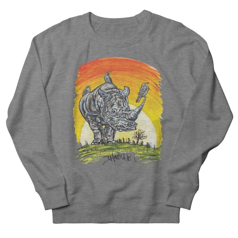 Three Little Birds Men's French Terry Sweatshirt by Brick Alley Studio's Artist Shop