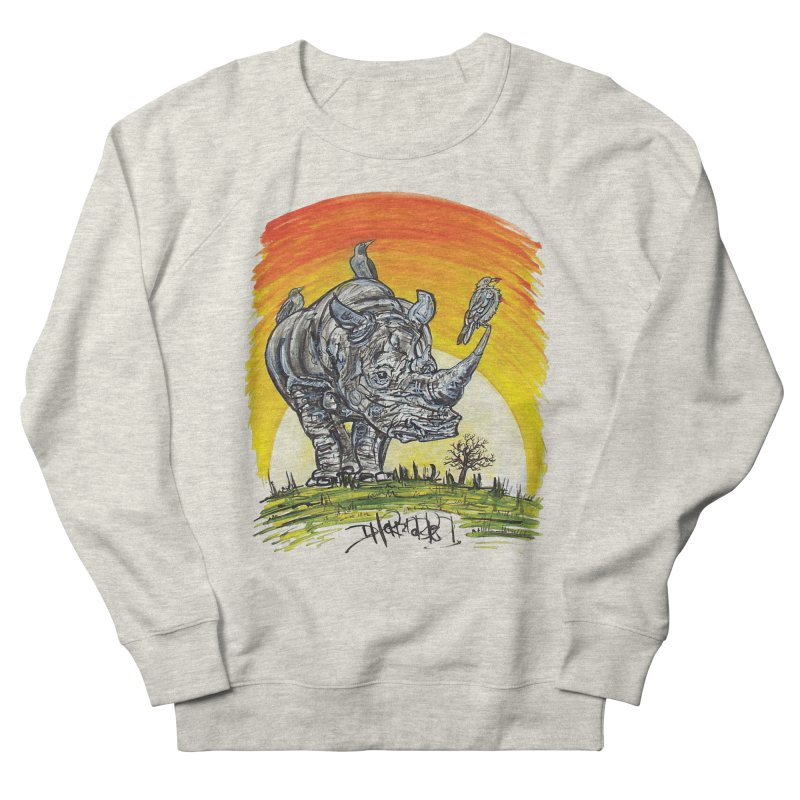 Three Little Birds Men's French Terry Sweatshirt by Brick Alley Studio's Artist Shop