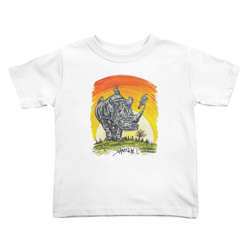 Three Little Birds Kids Toddler T-Shirt by Brick Alley Studio's Artist Shop