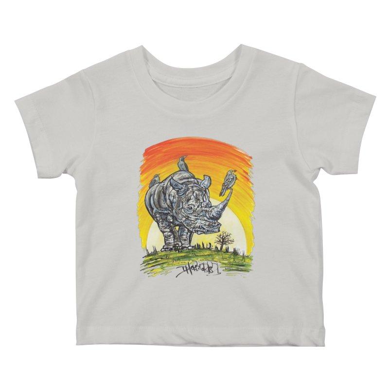Three Little Birds Kids Baby T-Shirt by Brick Alley Studio's Artist Shop