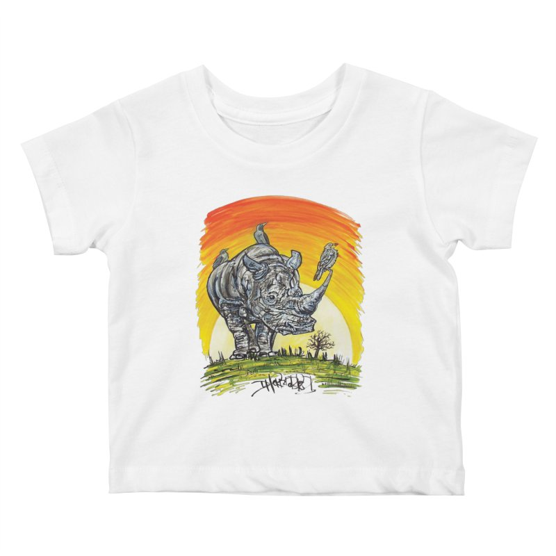 Three Little Birds Kids Baby T-Shirt by Brick Alley Studio's Artist Shop