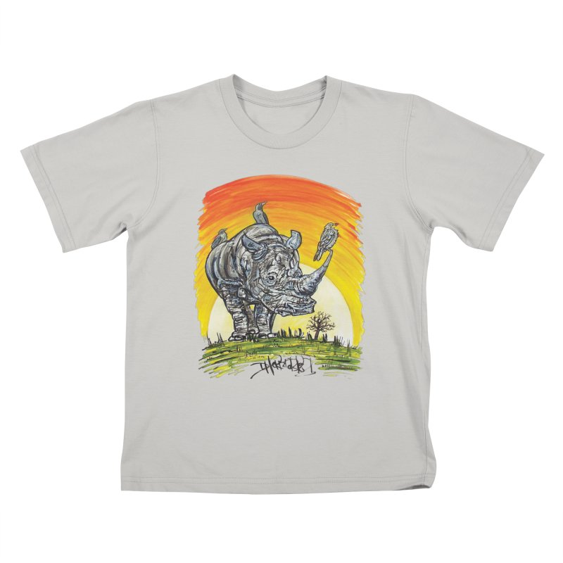 Three Little Birds Kids T-Shirt by Brick Alley Studio's Artist Shop