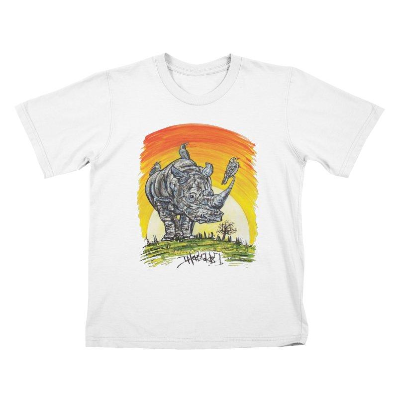 Three Little Birds Kids T-Shirt by Brick Alley Studio's Artist Shop