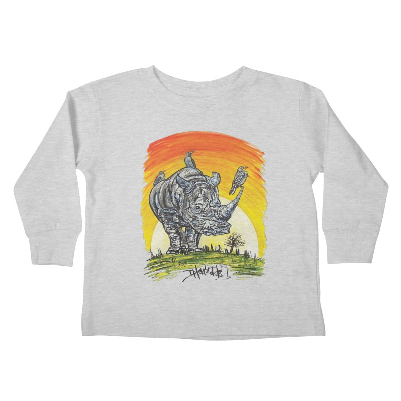 Three Little Birds Kids Toddler Longsleeve T-Shirt by Brick Alley Studio's Artist Shop