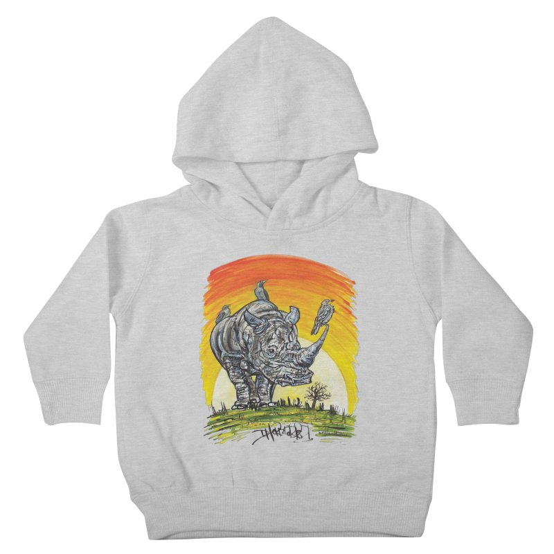 Three Little Birds Kids Toddler Pullover Hoody by Brick Alley Studio's Artist Shop
