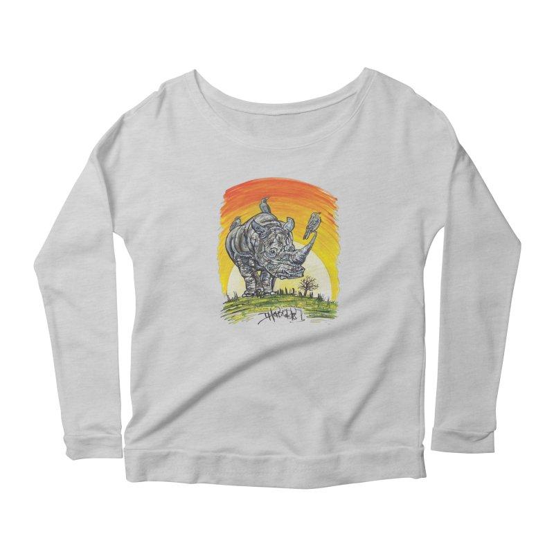 Three Little Birds Women's Longsleeve T-Shirt by Brick Alley Studio's Artist Shop