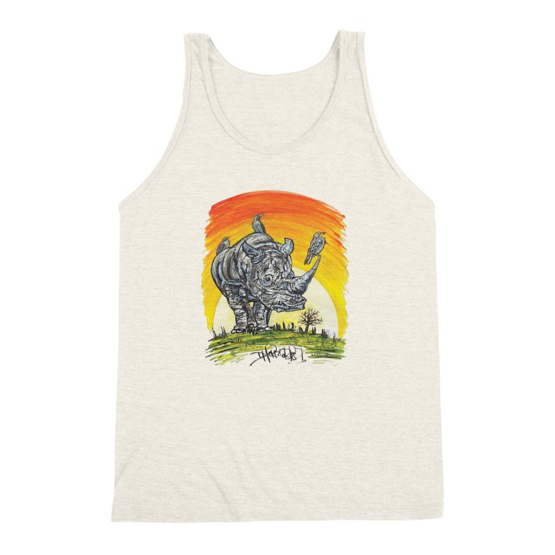 Three Little Birds Men's Triblend Tank by Brick Alley Studio's Artist Shop