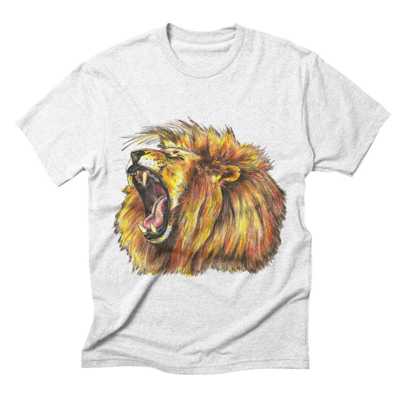 Iron Bars in Men's Triblend T-shirt Heather White by Brick Alley Studio's Artist Shop
