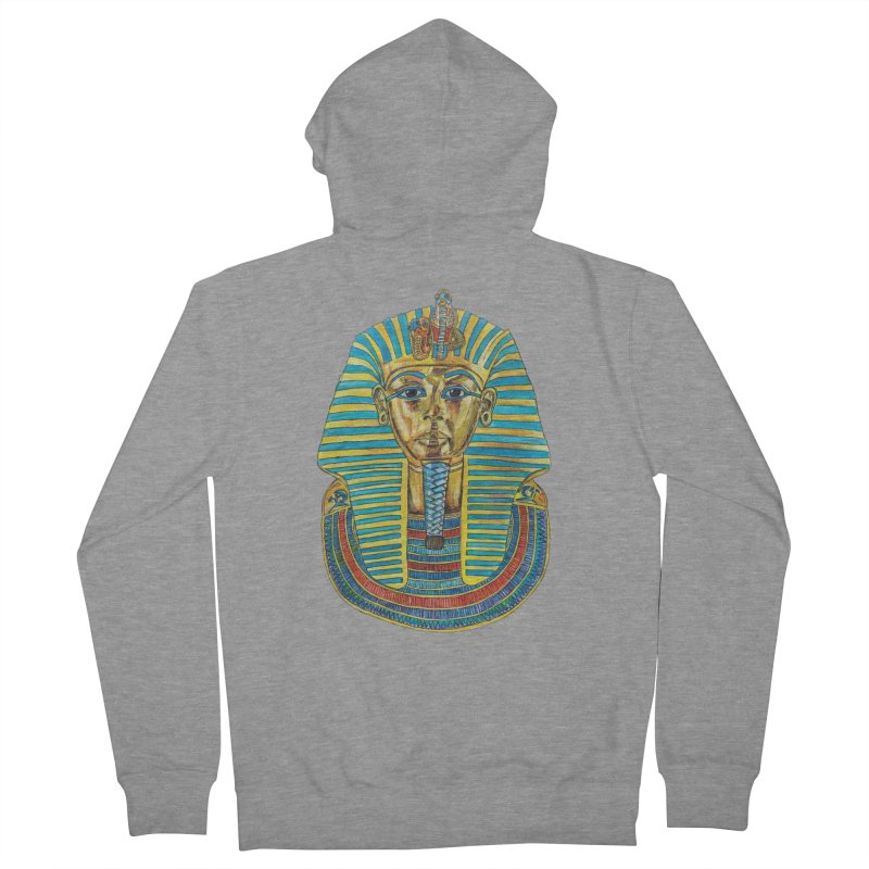 Tut Women's Zip-Up Hoody by Brick Alley Studio's Artist Shop
