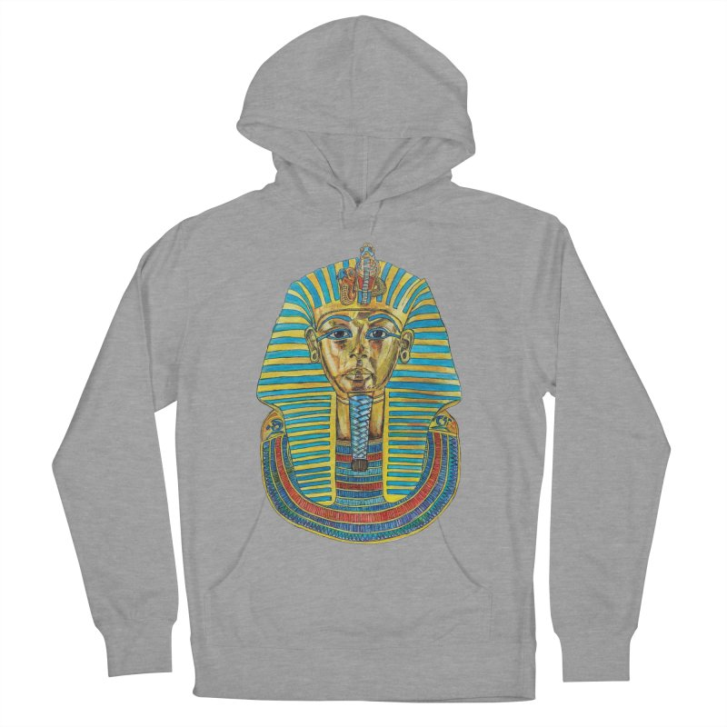 Tut Women's French Terry Pullover Hoody by Brick Alley Studio's Artist Shop