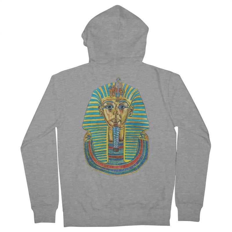Tut Men's French Terry Zip-Up Hoody by Brick Alley Studio's Artist Shop