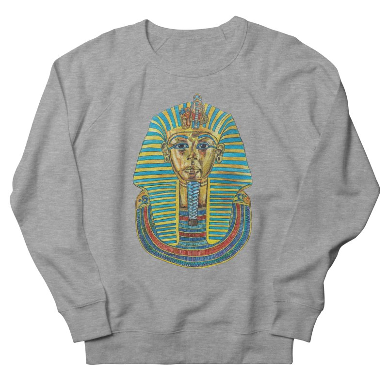 Tut Men's French Terry Sweatshirt by Brick Alley Studio's Artist Shop