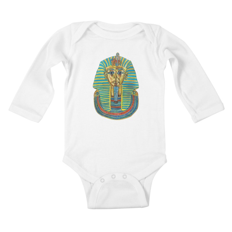Tut Kids Baby Longsleeve Bodysuit by Brick Alley Studio's Artist Shop