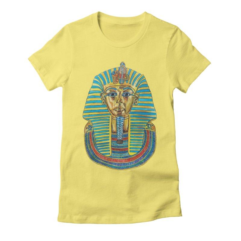 Tut Women's Fitted T-Shirt by Brick Alley Studio's Artist Shop