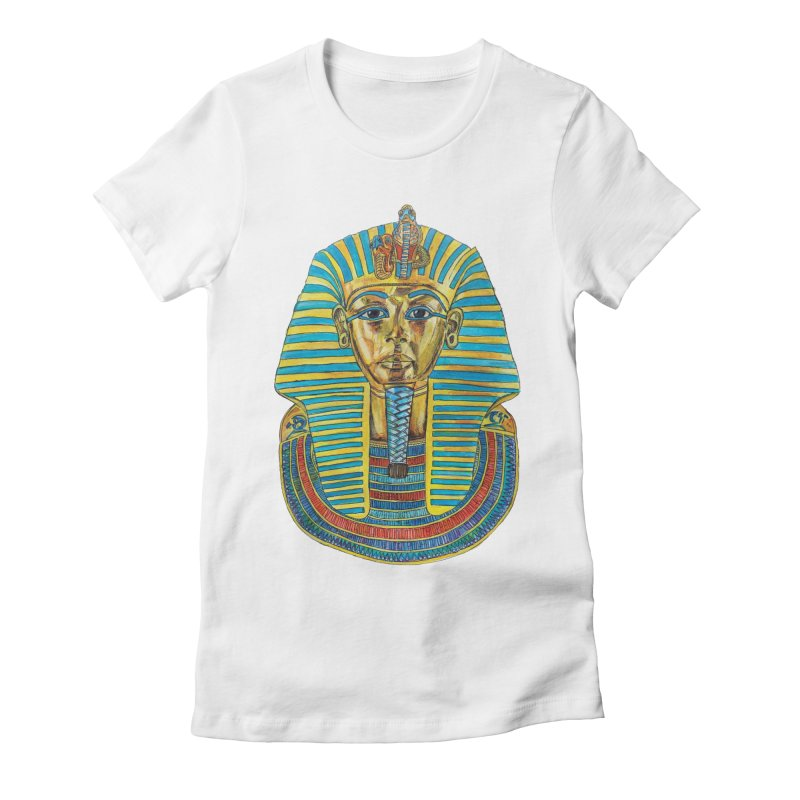 Tut Women's Fitted T-Shirt by Brick Alley Studio's Artist Shop