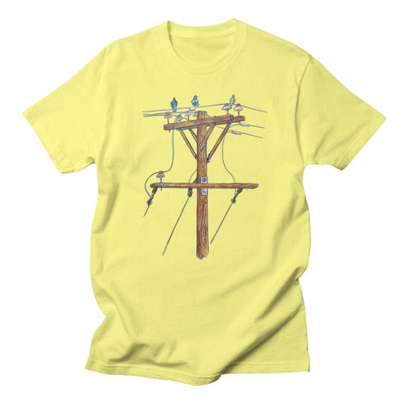 3 Little Birds Men's T-Shirt by Brick Alley Studio's Artist Shop