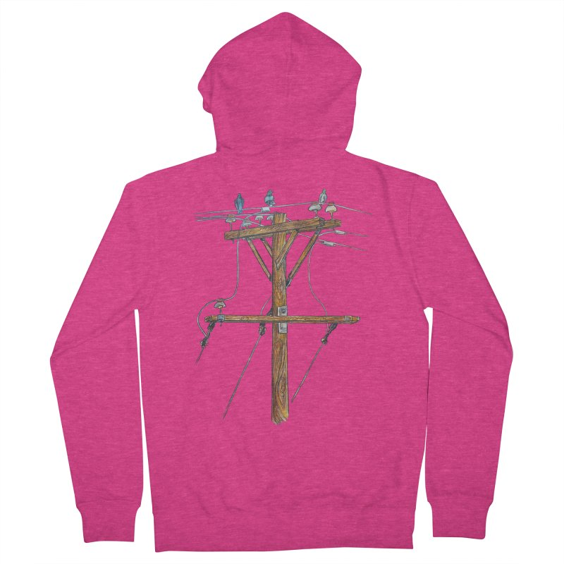 3 Little Birds Women's French Terry Zip-Up Hoody by Brick Alley Studio's Artist Shop