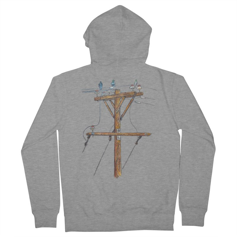 3 Little Birds Men's Zip-Up Hoody by Brick Alley Studio's Artist Shop