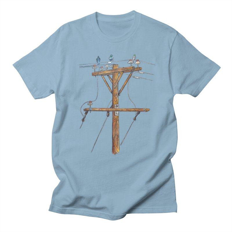 3 Little Birds Men's T-Shirt by Brick Alley Studio's Artist Shop