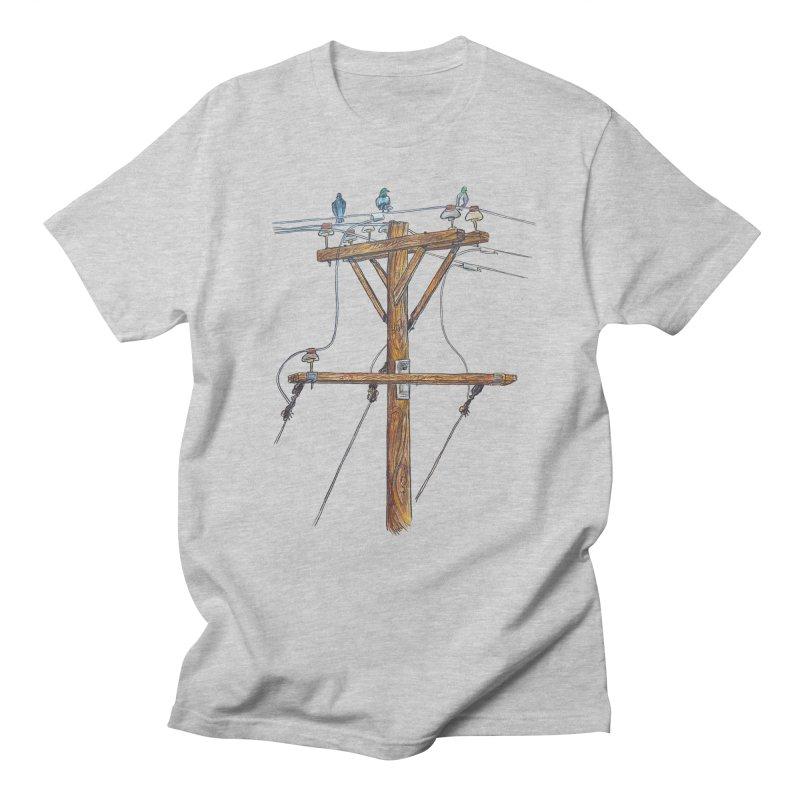 3 Little Birds Men's Regular T-Shirt by Brick Alley Studio's Artist Shop