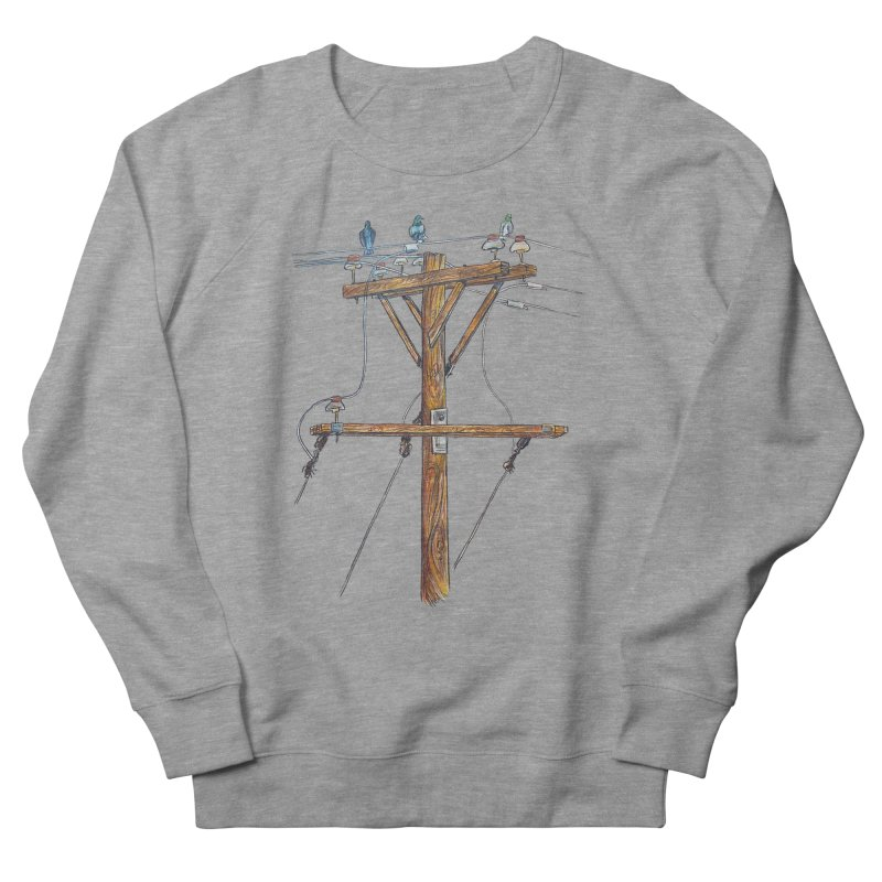 3 Little Birds Women's French Terry Sweatshirt by Brick Alley Studio's Artist Shop