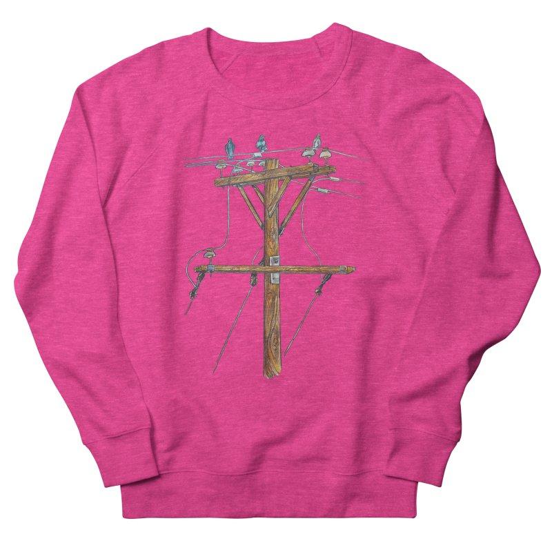 3 Little Birds Women's French Terry Sweatshirt by Brick Alley Studio's Artist Shop
