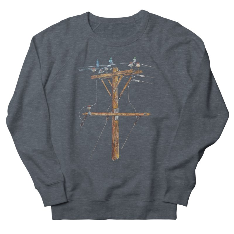 3 Little Birds Men's French Terry Sweatshirt by Brick Alley Studio's Artist Shop