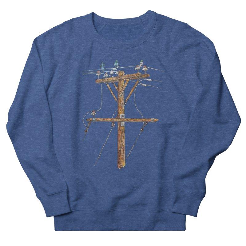 3 Little Birds Men's French Terry Sweatshirt by Brick Alley Studio's Artist Shop