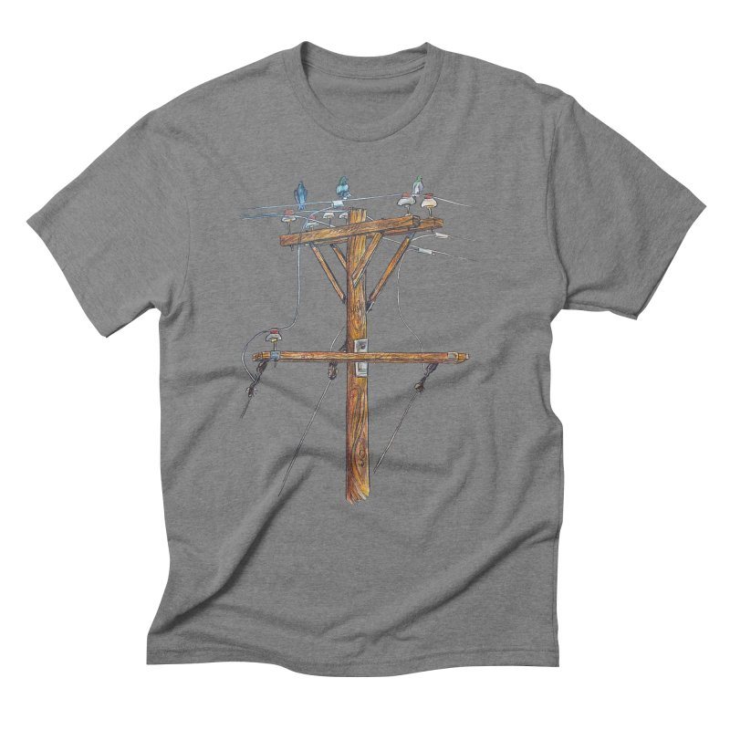 3 Little Birds Men's Triblend T-Shirt by Brick Alley Studio's Artist Shop