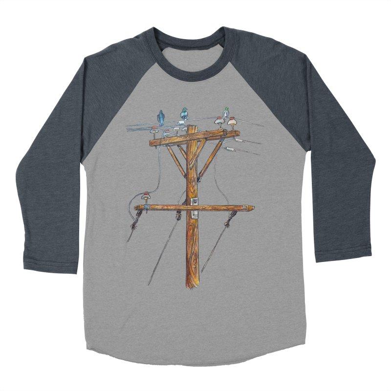 3 Little Birds Women's Baseball Triblend T-Shirt by Brick Alley Studio's Artist Shop