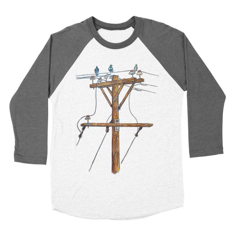 3 Little Birds Men's Baseball Triblend Longsleeve T-Shirt by Brick Alley Studio's Artist Shop