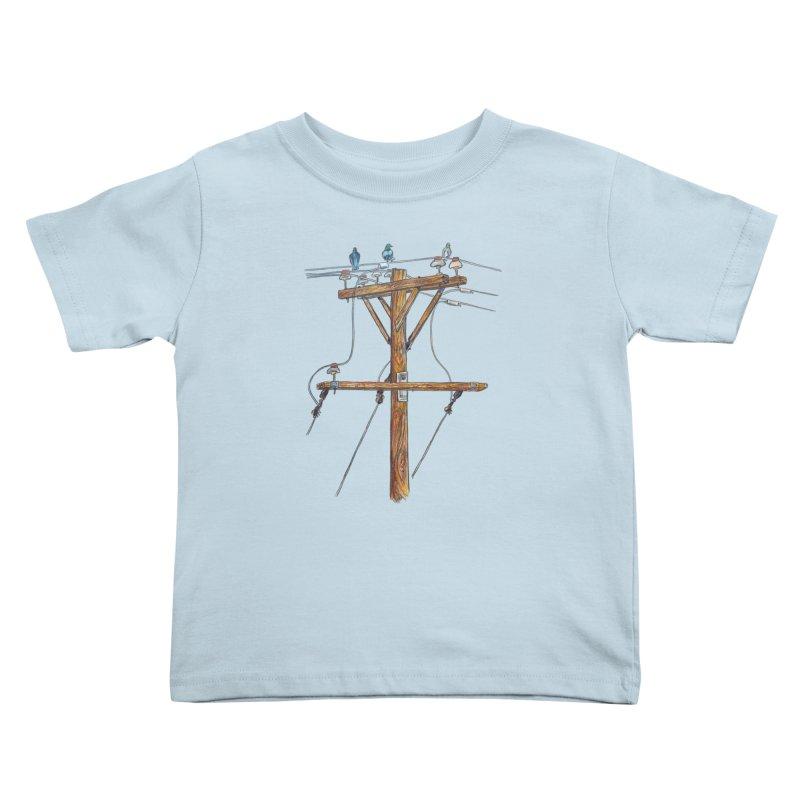 3 Little Birds Kids Toddler T-Shirt by Brick Alley Studio's Artist Shop