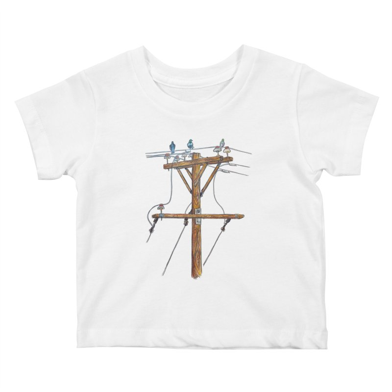 3 Little Birds Kids Baby T-Shirt by Brick Alley Studio's Artist Shop