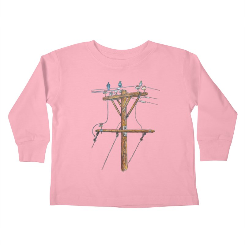 3 Little Birds Kids Toddler Longsleeve T-Shirt by Brick Alley Studio's Artist Shop