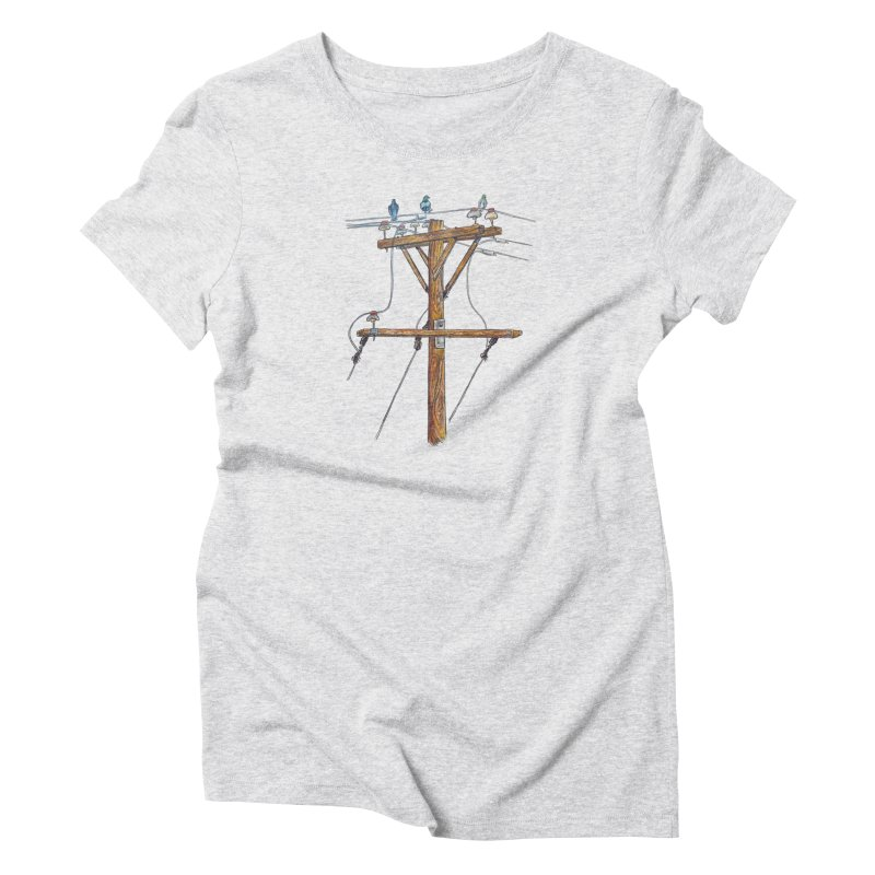 3 Little Birds Women's T-Shirt by Brick Alley Studio's Artist Shop