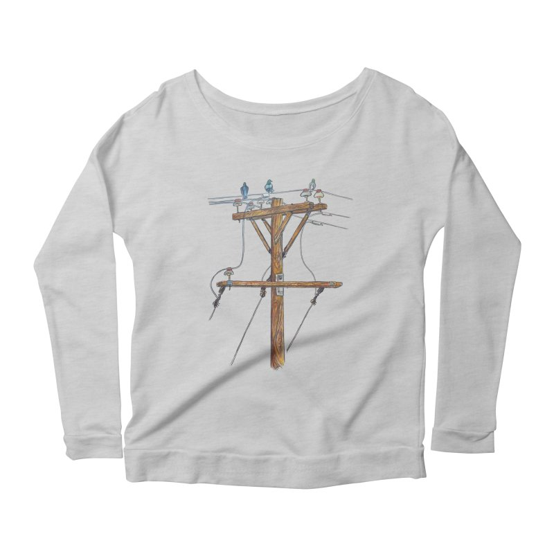 3 Little Birds Women's Scoop Neck Longsleeve T-Shirt by Brick Alley Studio's Artist Shop