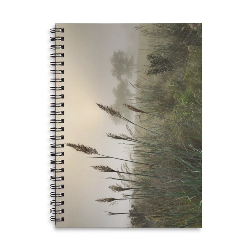 Grasslands in the Morning (photo) Accessories Lined Spiral Notebook by Brick Alley Studio's Artist Shop