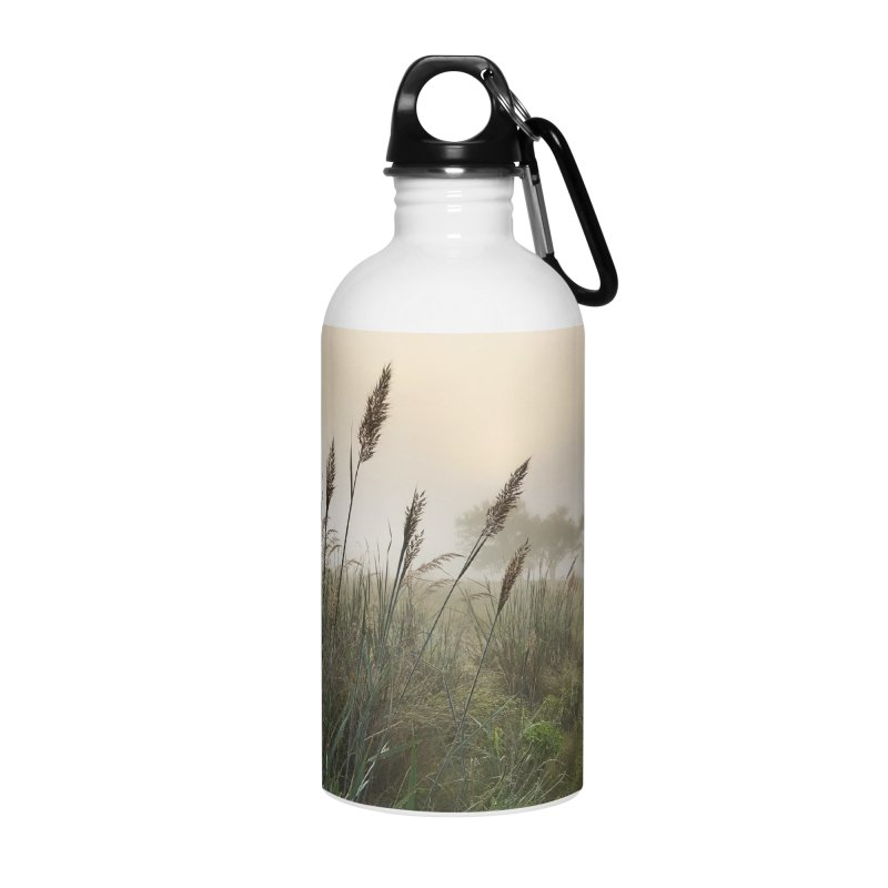 Grasslands in the Morning (photo) Accessories Water Bottle by Brick Alley Studio's Artist Shop