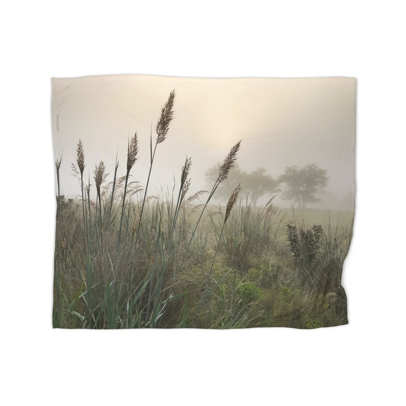Grasslands in the Morning (photo) in Fleece Blanket Blanket by Brick Alley Studio's Artist Shop