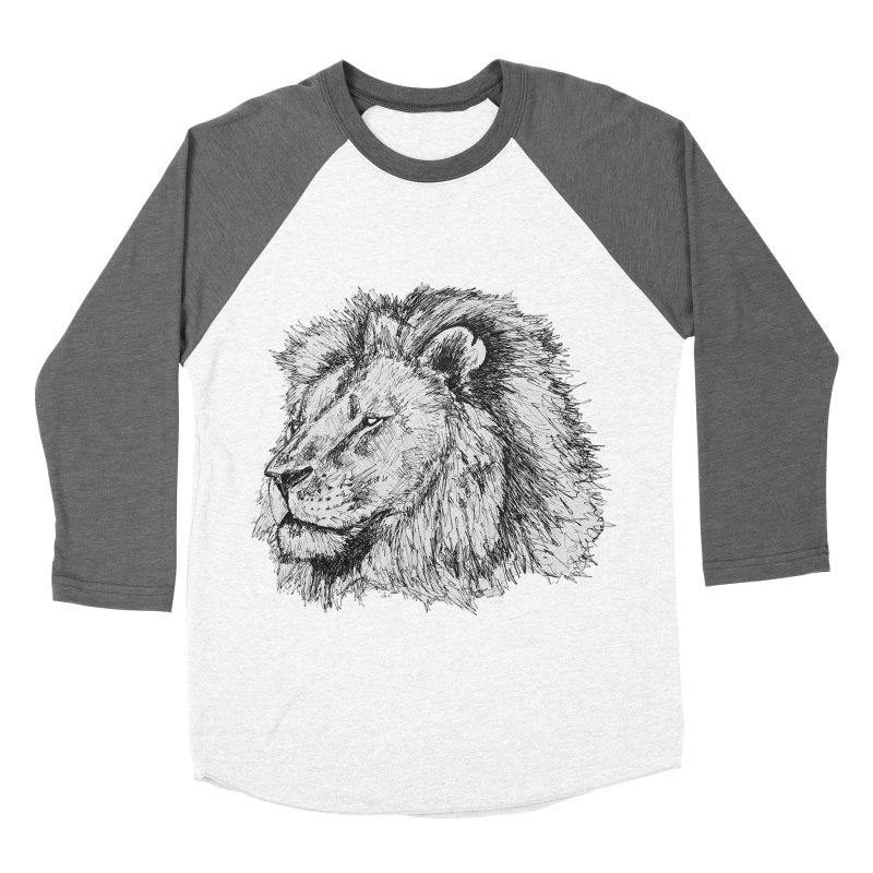 African Lion Pen Sketch   by Brick Alley Studio's Artist Shop