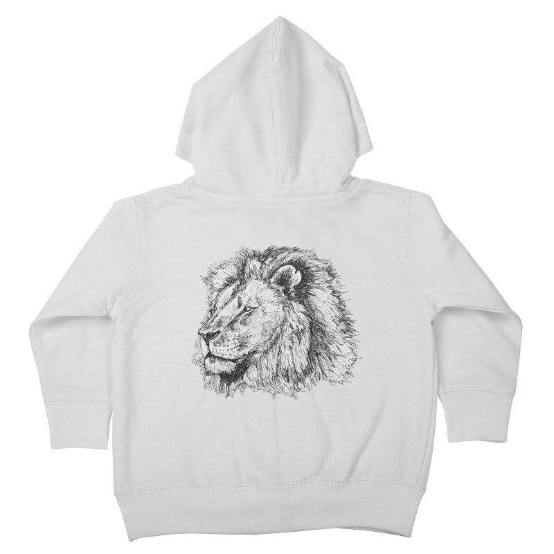 African Lion Pen Sketch   by Brick Alley Studio's Artist Shop