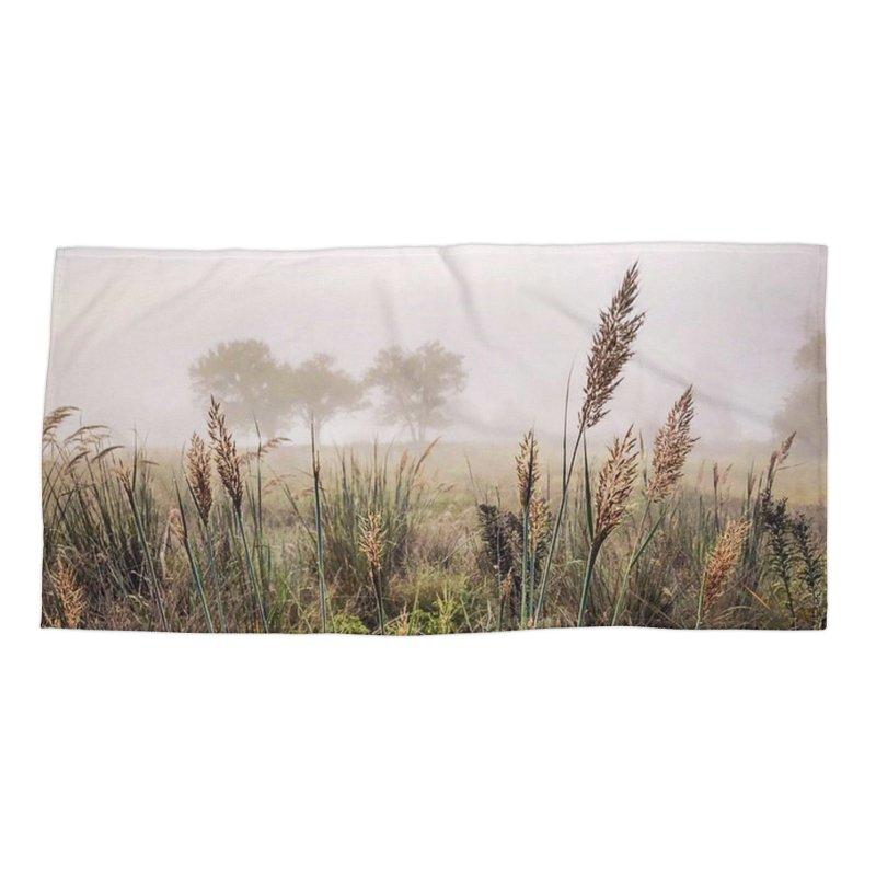Haze on the Grass (photo) Accessories Beach Towel by Brick Alley Studio's Artist Shop