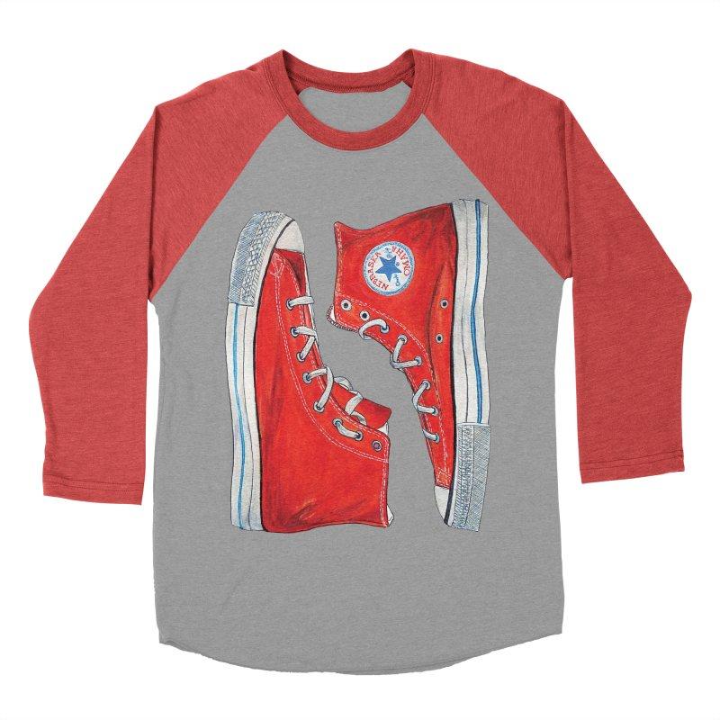 Omaha Nebraska Chucks Women's Baseball Triblend T-Shirt by Brick Alley Studio's Artist Shop