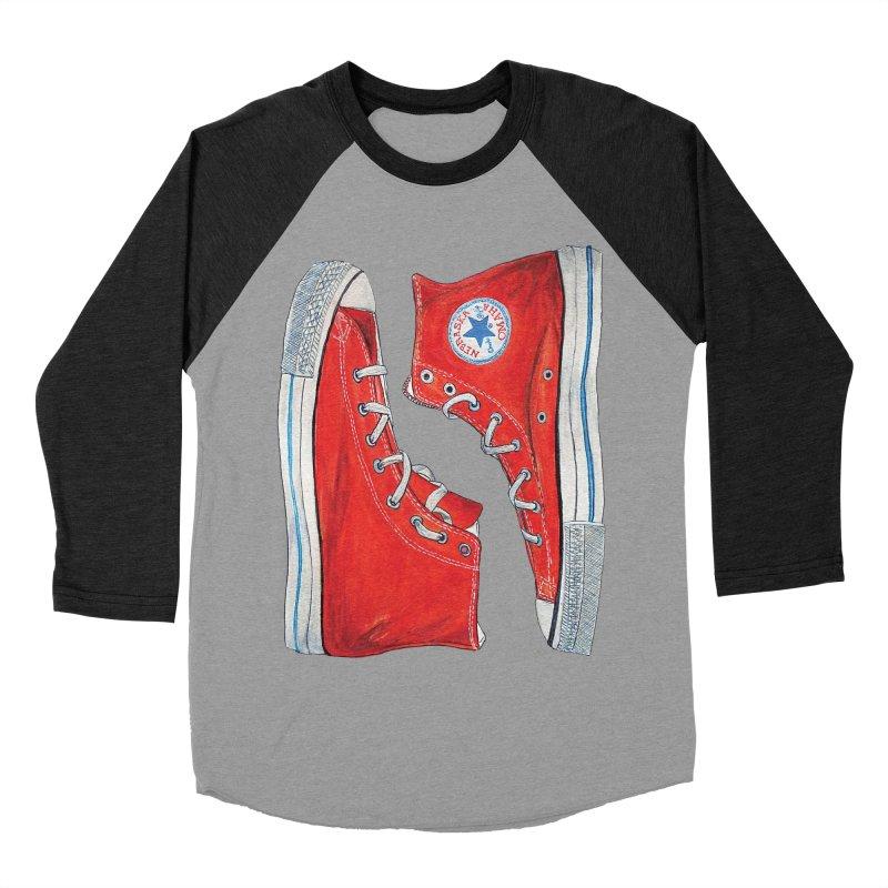Omaha Nebraska Chucks Men's Baseball Triblend T-Shirt by Brick Alley Studio's Artist Shop