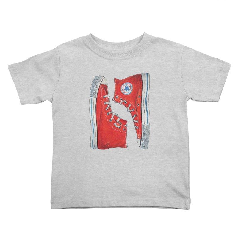 Omaha Nebraska Chucks Kids Toddler T-Shirt by Brick Alley Studio's Artist Shop