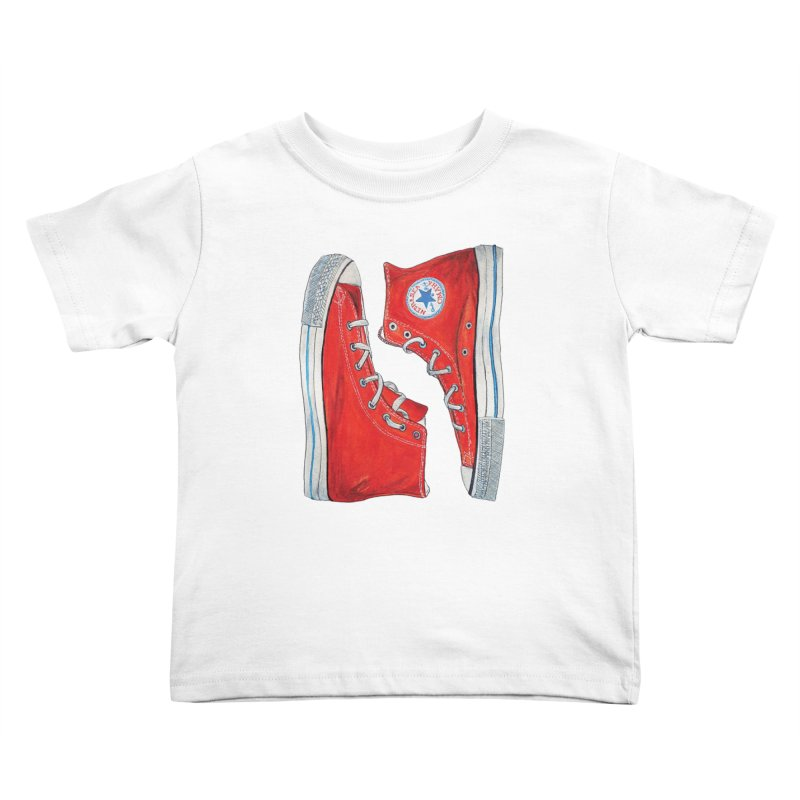 Omaha Nebraska Chucks Kids Toddler T-Shirt by Brick Alley Studio's Artist Shop