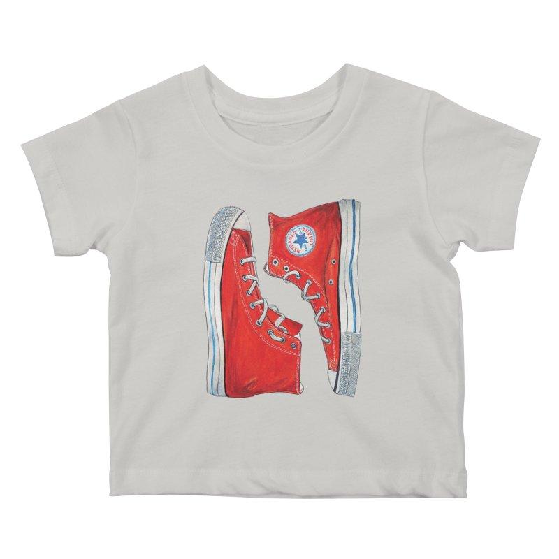 Omaha Nebraska Chucks Kids Baby T-Shirt by Brick Alley Studio's Artist Shop
