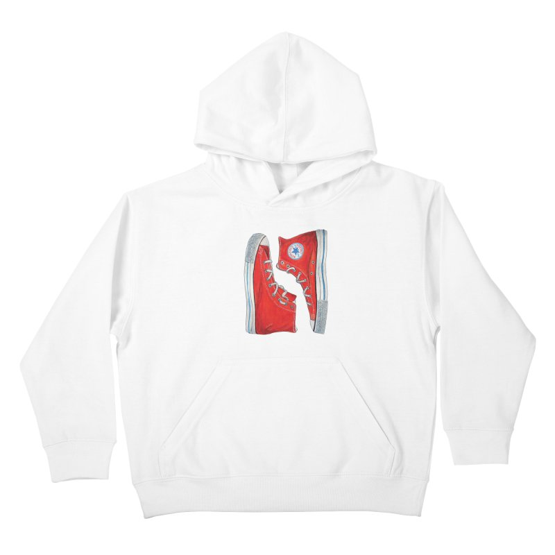 Omaha Nebraska Chucks Kids Pullover Hoody by Brick Alley Studio's Artist Shop