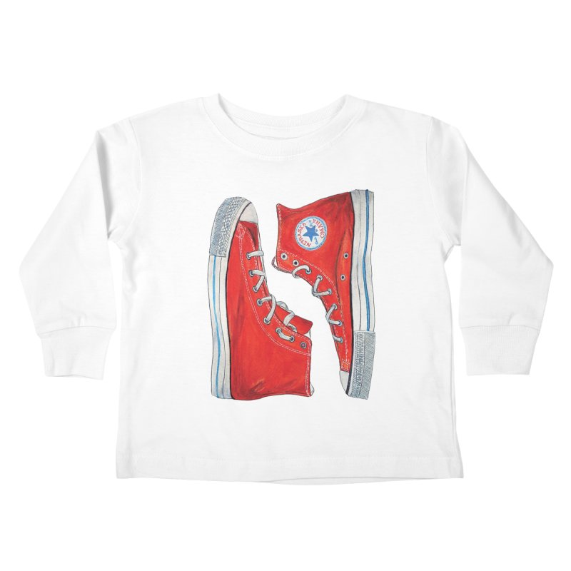 Omaha Nebraska Chucks Kids Toddler Longsleeve T-Shirt by Brick Alley Studio's Artist Shop