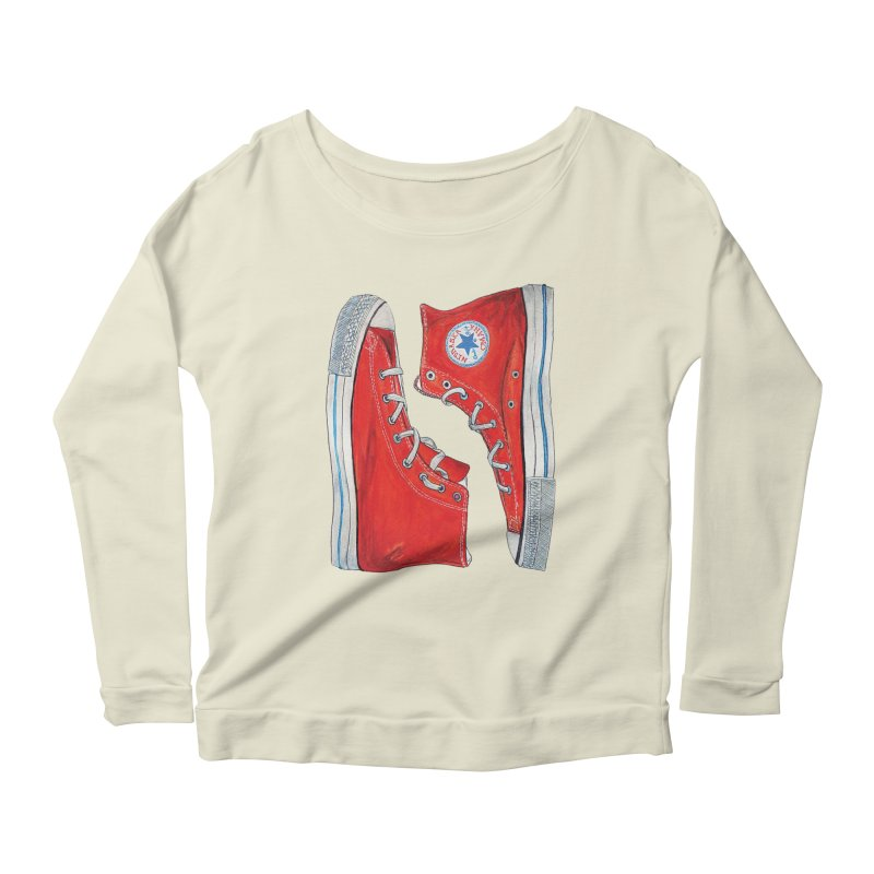 Omaha Nebraska Chucks Women's Longsleeve Scoopneck  by Brick Alley Studio's Artist Shop